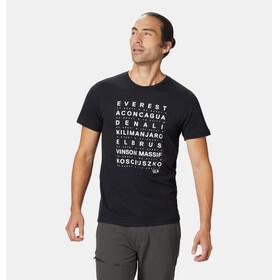 Mountain Hardwear Seven Summits - T-shirt manches courtes Homme - blanc/noir